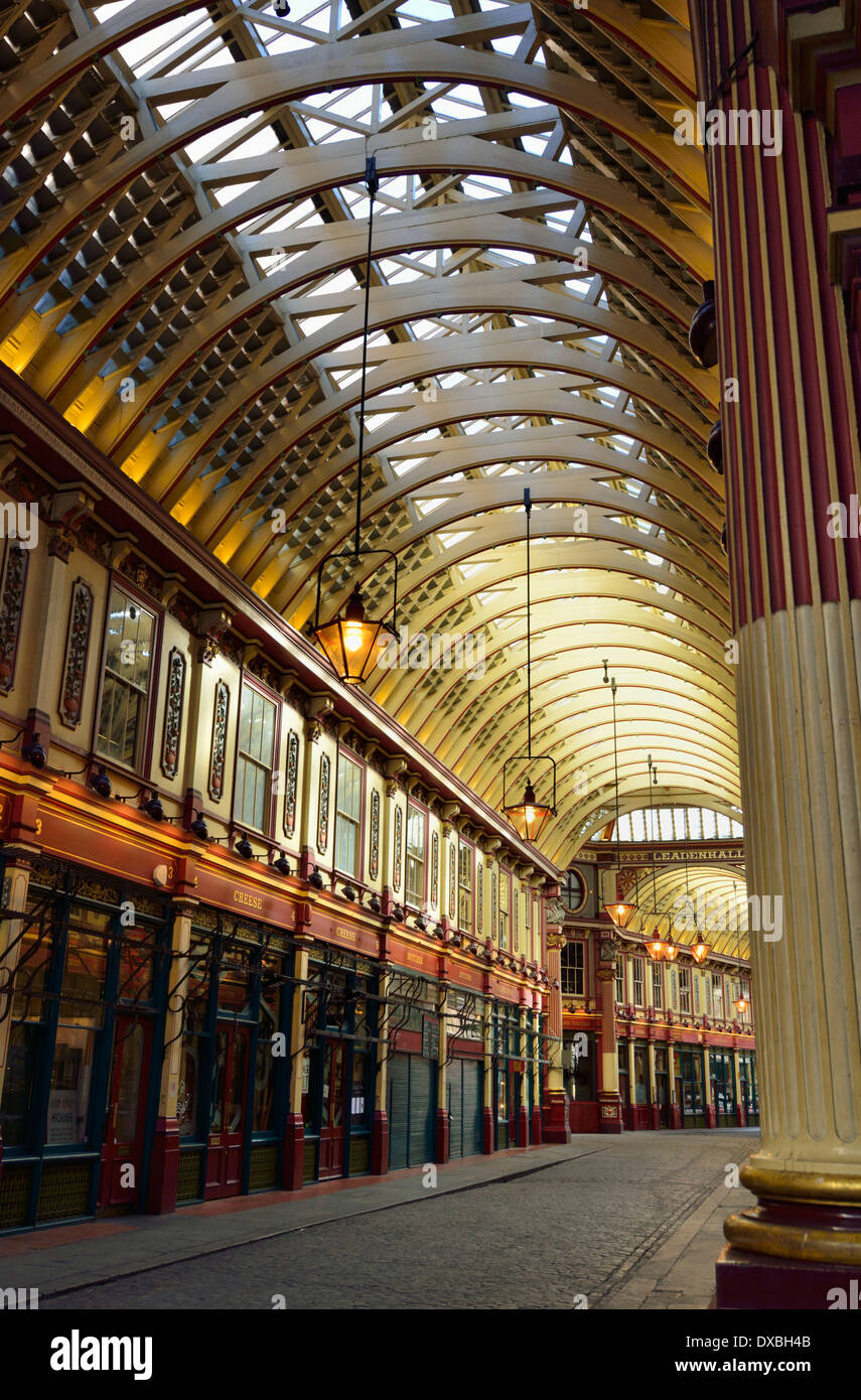 Leadenhall Market, Gracechurch Street ,City of London, United Kingdom - Stock Image