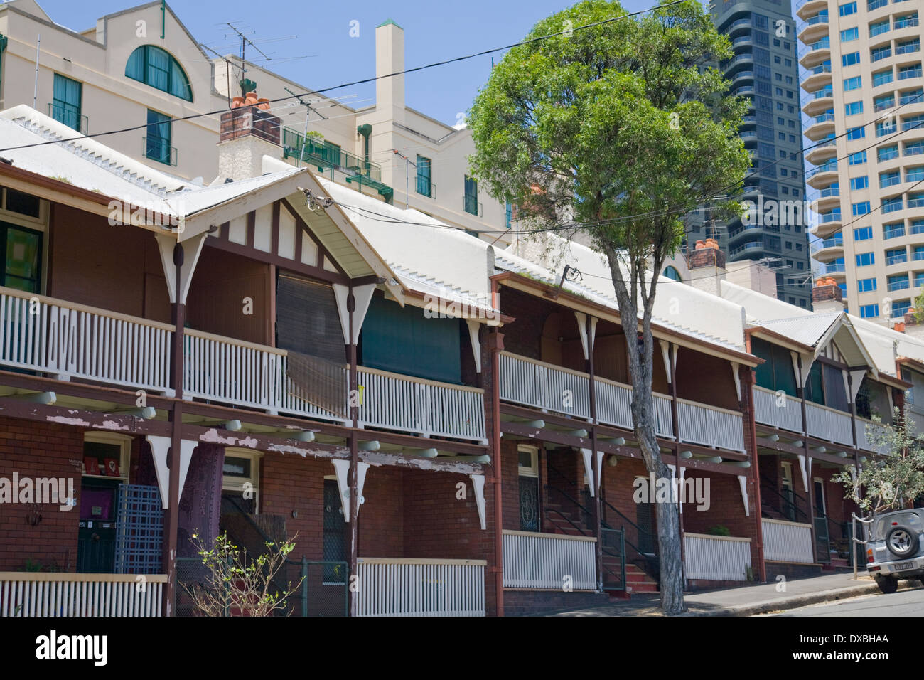 social public housing in Millers point,sydney,which the NSW government is looking to sell Stock Photo