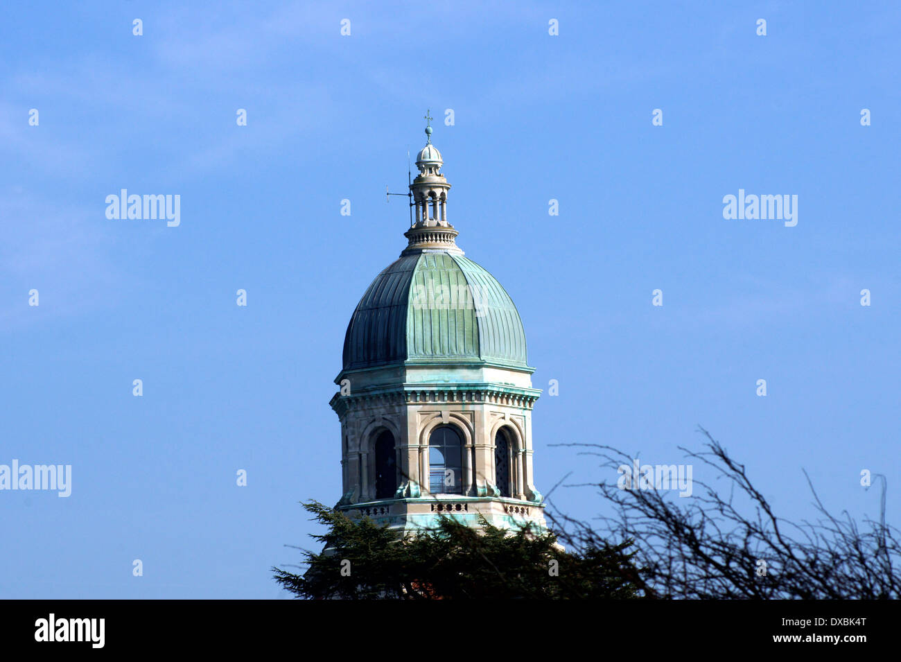 THE CHAPEL BELL TOWER  ROYAL QUEEN VICTORIA COUNTRY PARK, NETLEY,  SOUTHAMPTON, UK. Stock Photo