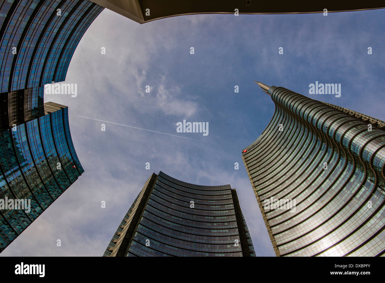 Porta Nuova business district, Milan, Lombardy, Italy - Stock Image