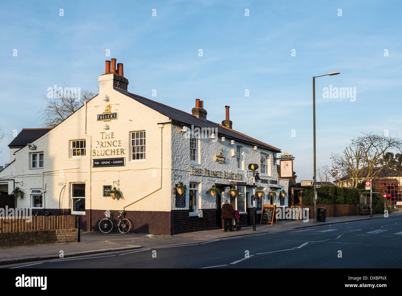 The Prince Blucher - Traditional English Fullers pub and restaurant in Twickenham, London, UK - Stock Image