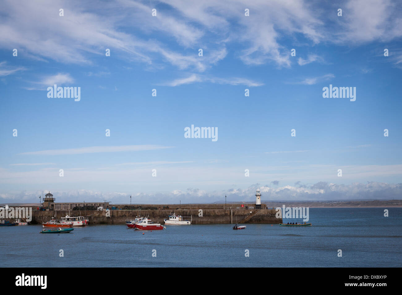 The harbour at St Ives, Cornwall. Stock Photo