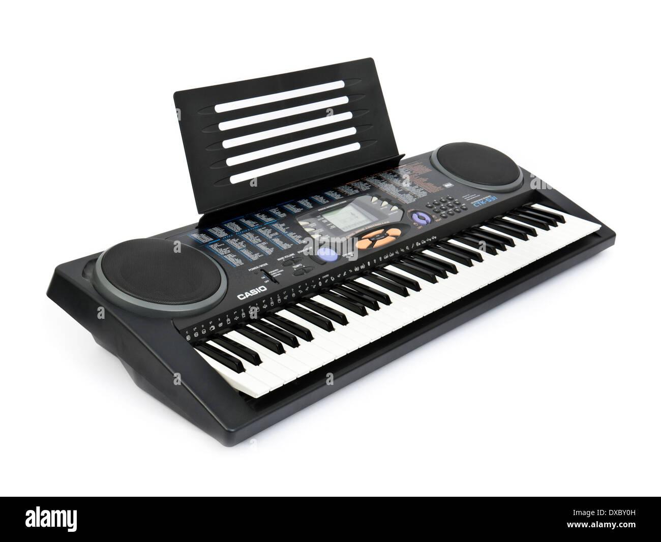 Casio CTK-531 portable MIDI electronic keyboard from 2008 - Stock Image