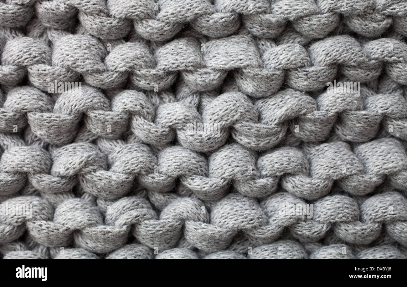 Close up of knitted background - Stock Image