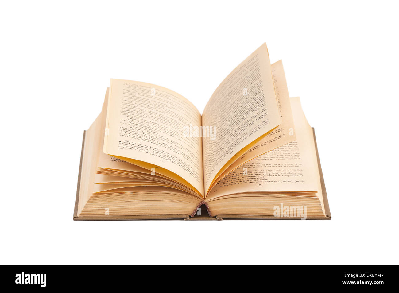 Open old book - Stock Image