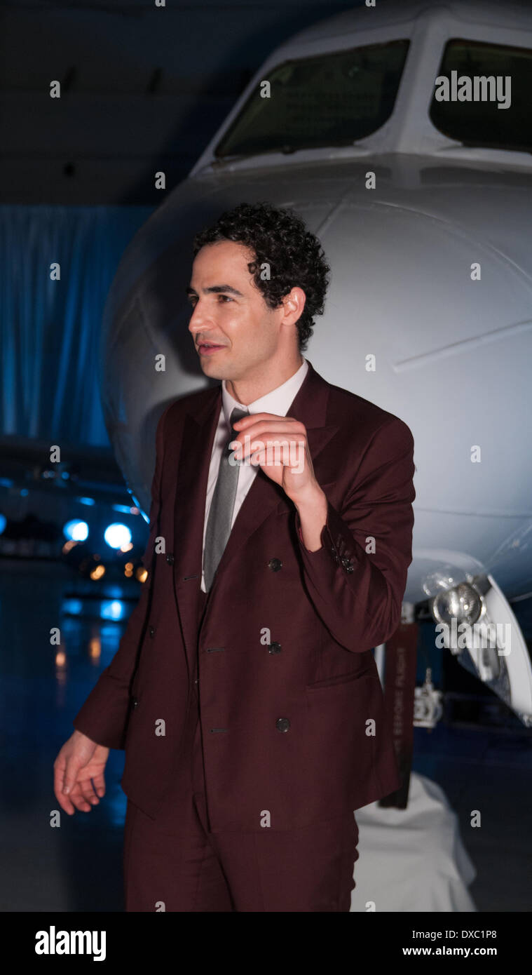 22nd March 2014 - Boca Raton, Florida USA. American designer Zac Posen presented his Fall 2014 Collection during the 4th Annual SHUZZ   ART   FASHION at Signature Flight Support - Avitat. - Stock Image