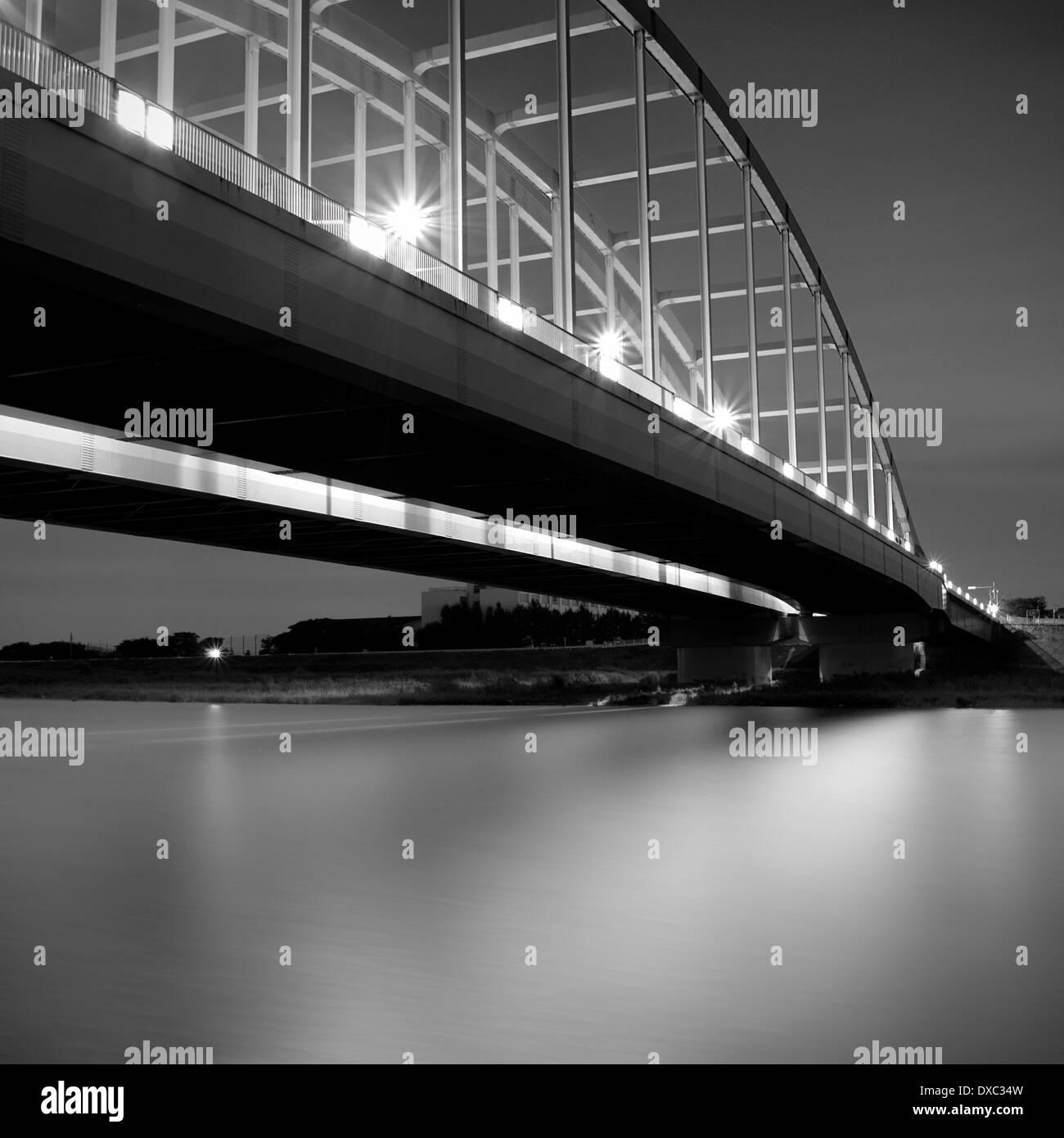 Bridge Over Tama River, Kanagawa Prefecture, Japan - Stock Image