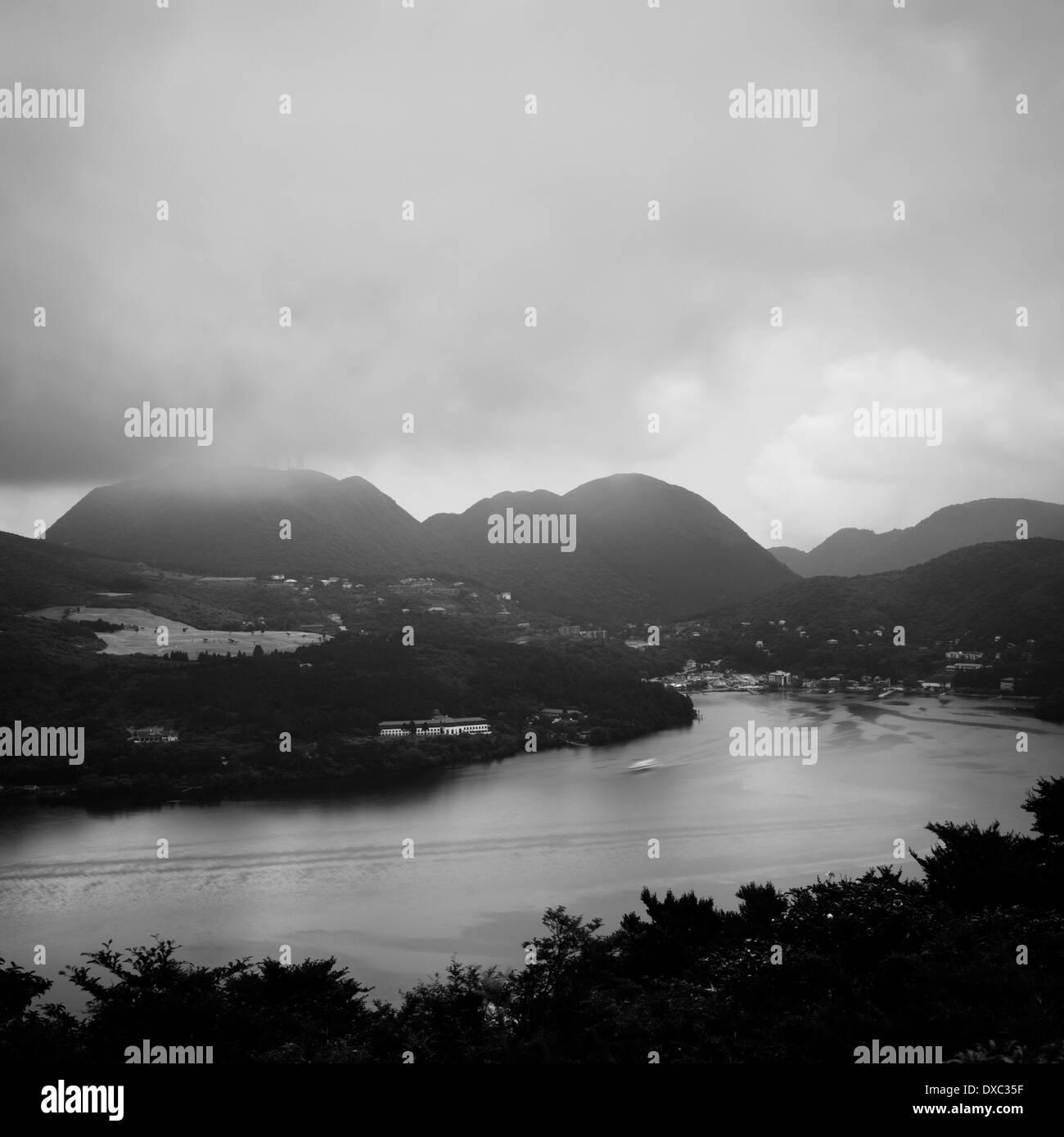 View From Ashinoko Skyline, Hakone, Kanagawa Prefecture, Japan - Stock Image