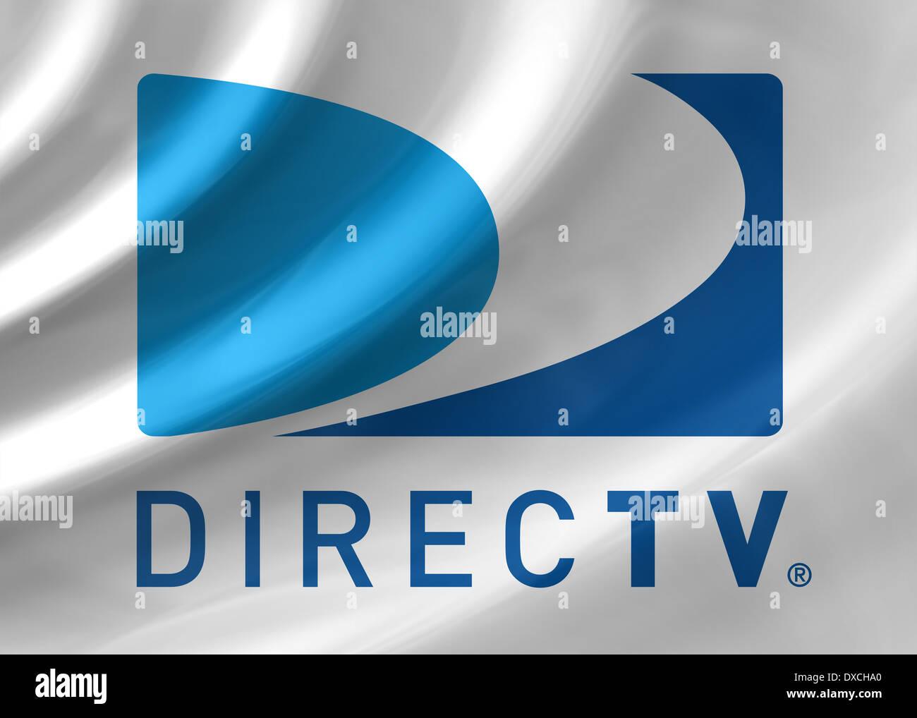 Direct TV logo symbol icon flag emblem - Stock Image