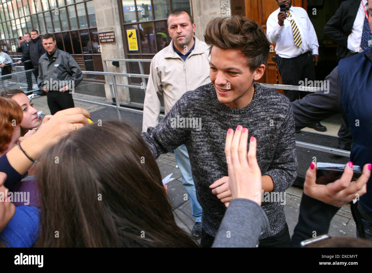 Louis Tomlinson One Direction arriving at BBC Radio 1 London