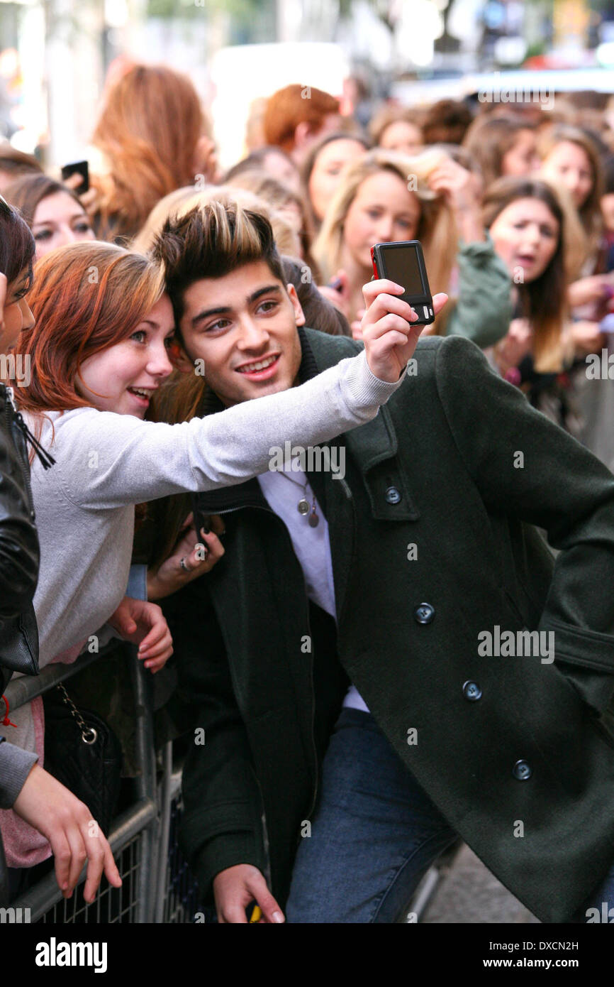 Zayn Malik One Direction arriving at BBC Radio 1 London