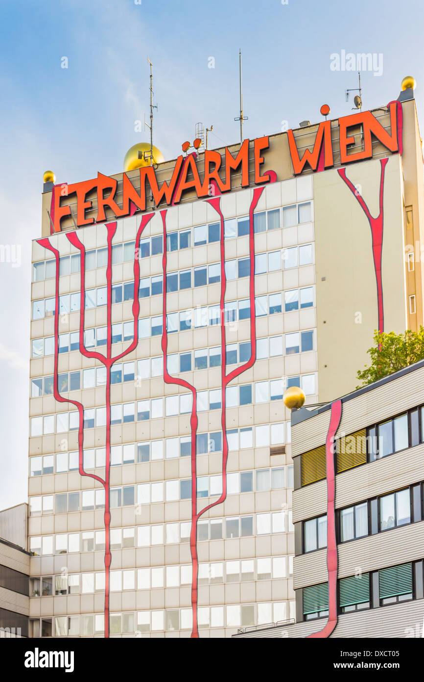 incineration plant and cogeneration plant of the viennese energy supplier _fernwaerme wien_ - Stock Image