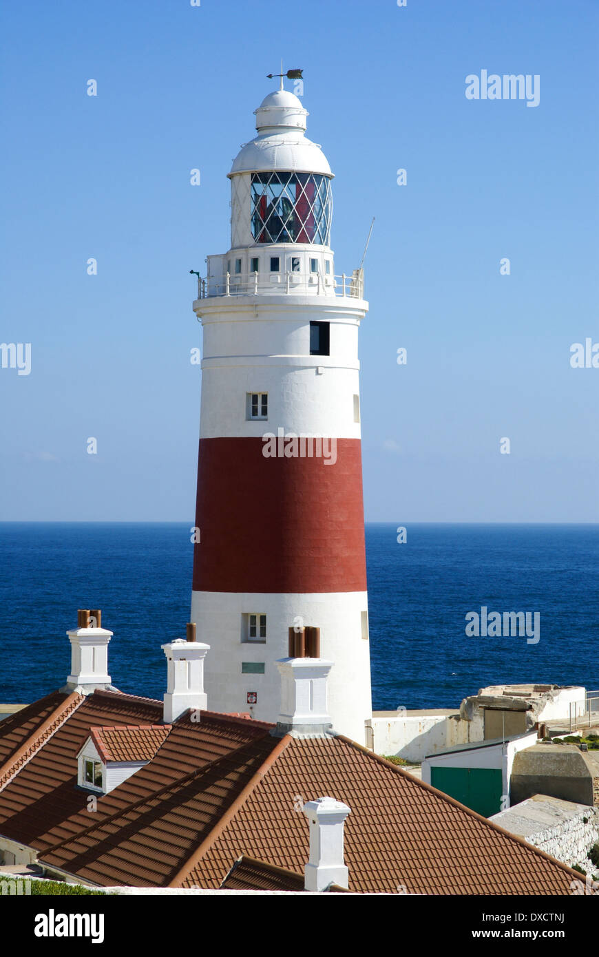 Lighthouse at Europa Point, Gibraltar - Stock Image