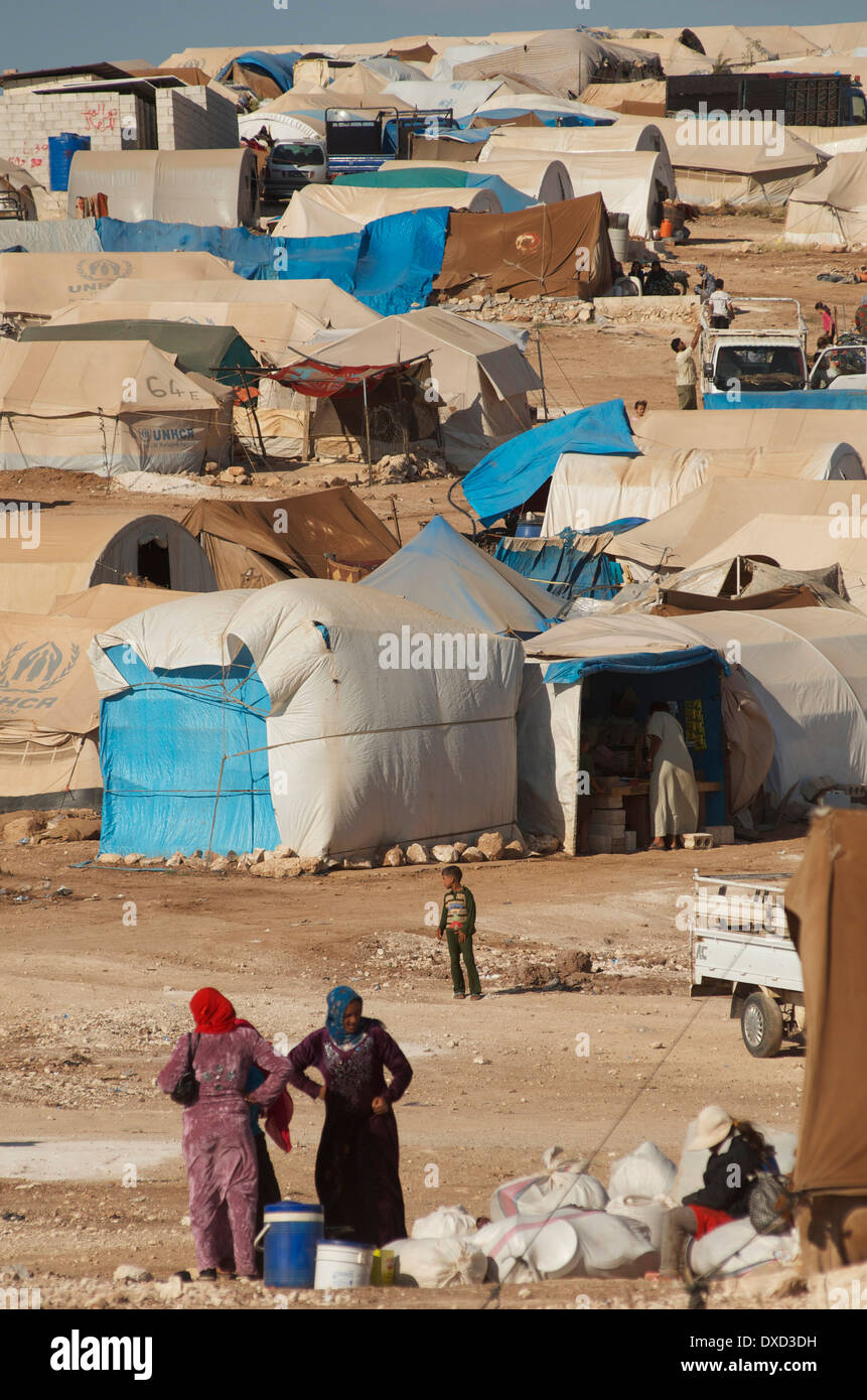 Atmeh Refugee Camp inside North Syria - Stock Image