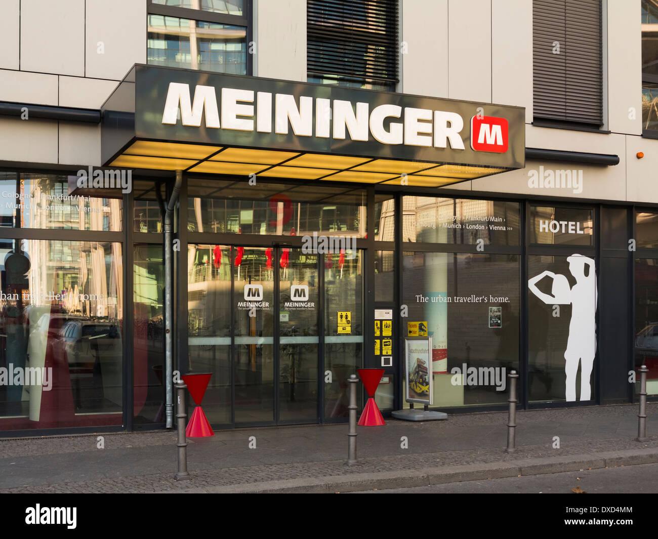Meininger, Berlin, Germany, Europe - the famous hotel hostel - Stock Image