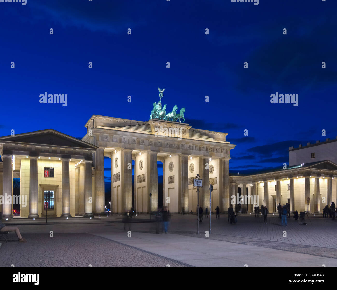 The Brandenburg Gate, Berlin, Germany, Europe at night - Stock Image
