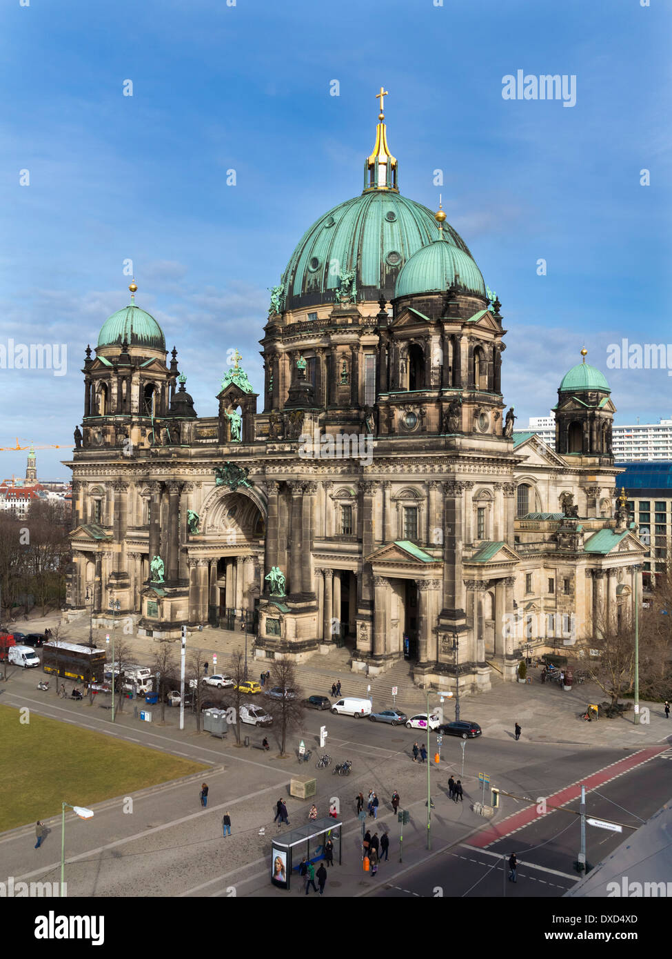The ornate old Berliner Dom Cathedral in the city centre of Berlin Germany - Stock Image