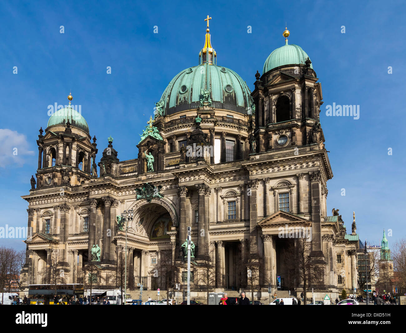 Front view of the historic old Berliner Dom, Berlin, Germany, Europe - Berlin Cathedral - Stock Image