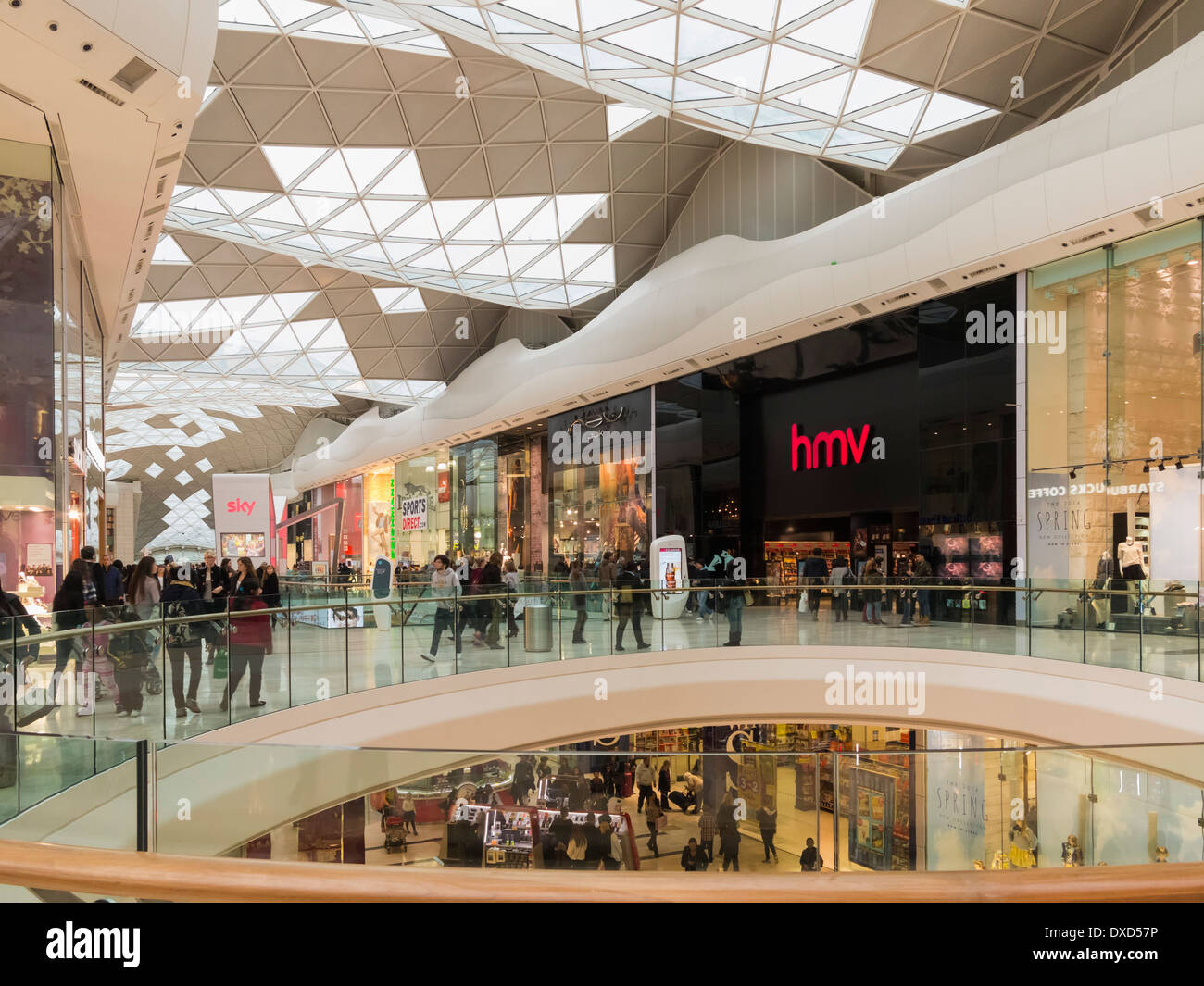Westfield Shopping Centre in West London, England, UK - Stock Image