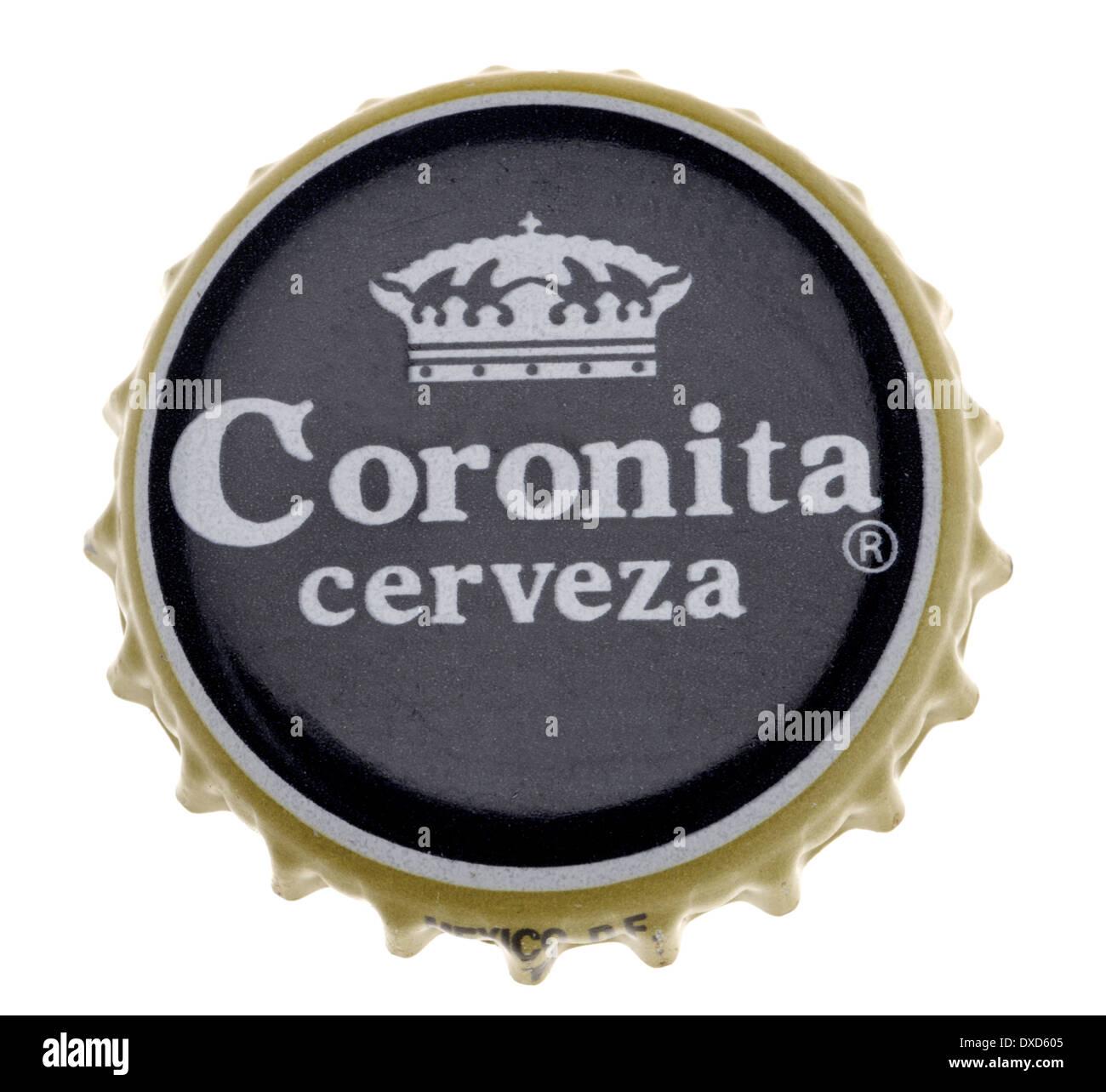 Beer bottle cap - Coronita / Corona (Spain) - Stock Image