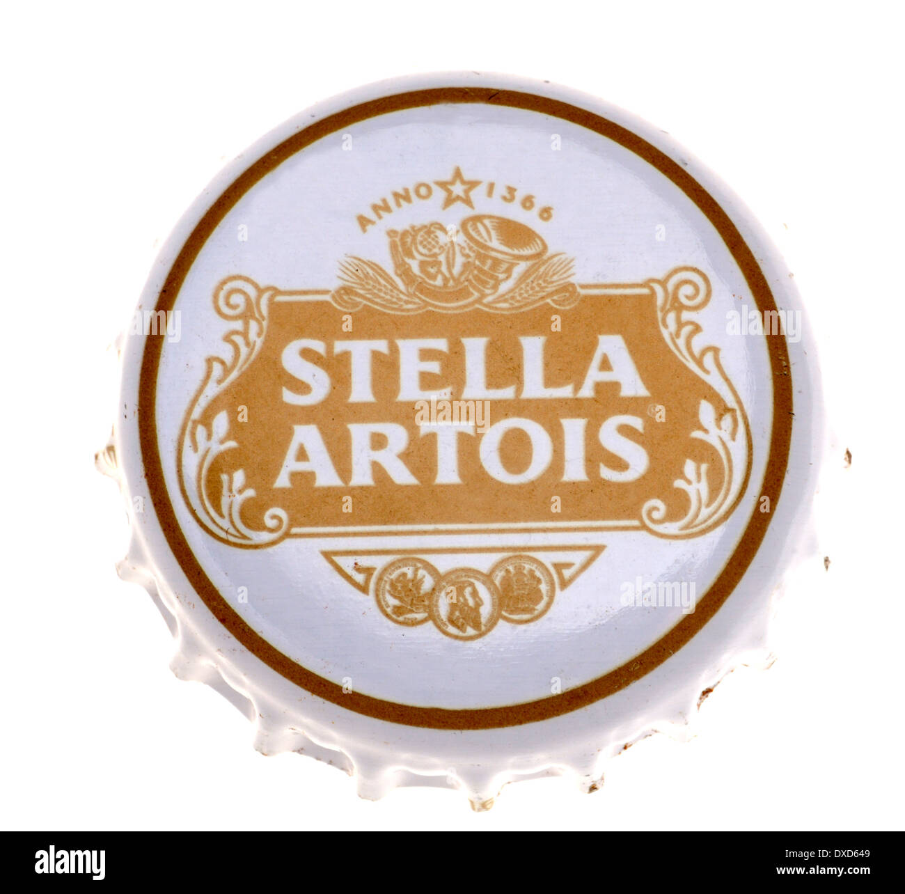 Beer bottle cap - Stella Artois (Belgium) Stock Photo
