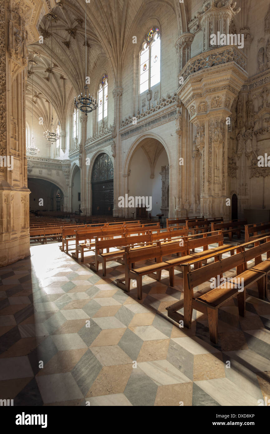 The church in the monastery San Juan de los Reyes, Toledo, Spain. - Stock Image