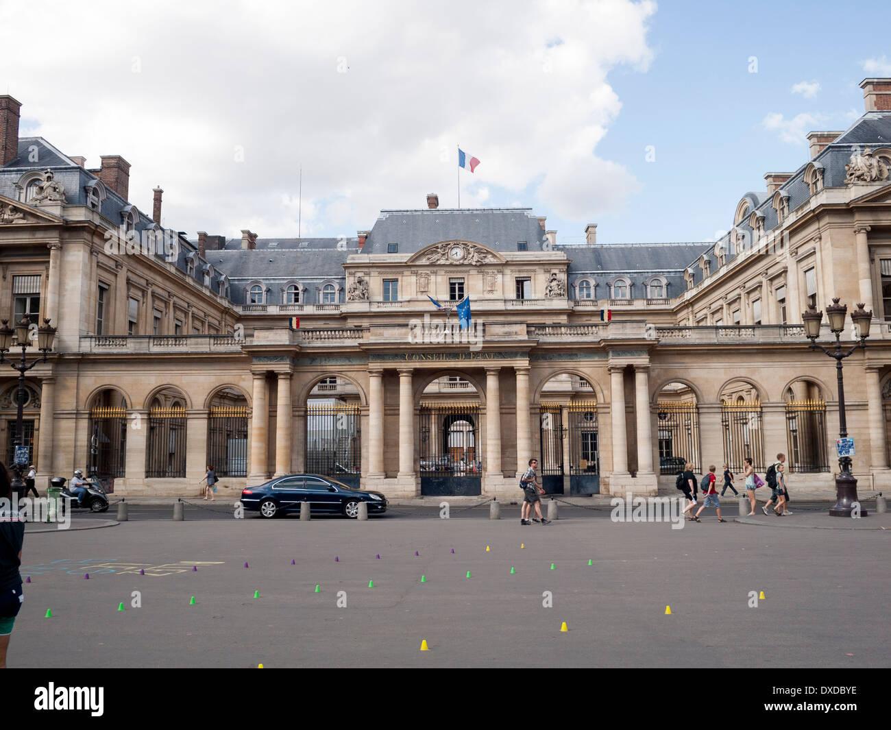 Conseil D'Etat, Palais Royal, Paris France - Stock Image