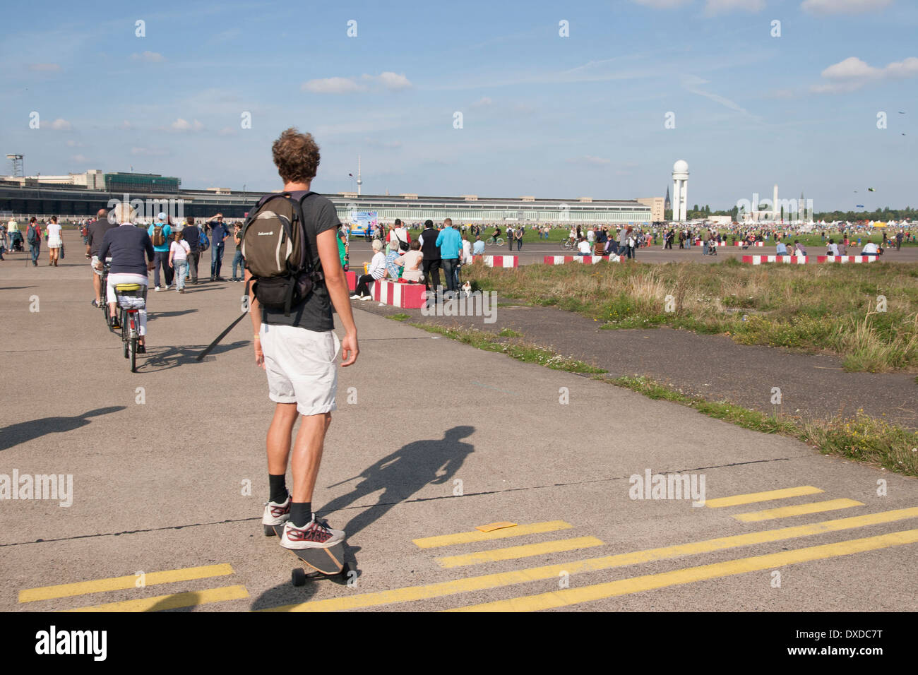 Former airport area Tempelhof in Berlin, Germany. - Stock Image