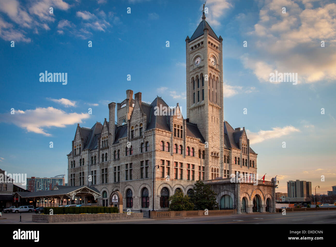 Union Station - restored train station, now a luxury hotel, Nashville, Tennessee, USA - Stock Image