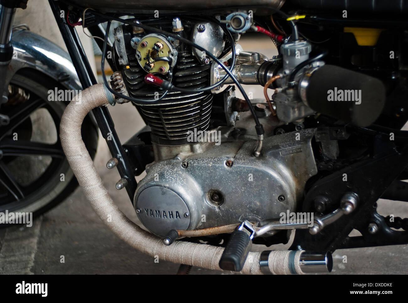 Yamaha Engine Stock Photos Images Alamy Motorcycle Classic Image