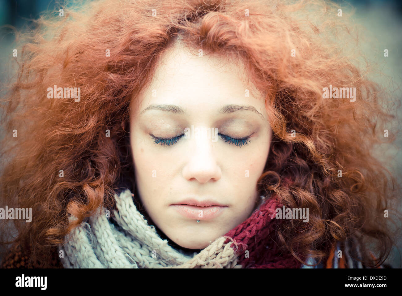 5d860f9562597 Beautiful Woman With Red Head Scarf Stock Photos & Beautiful Woman ...