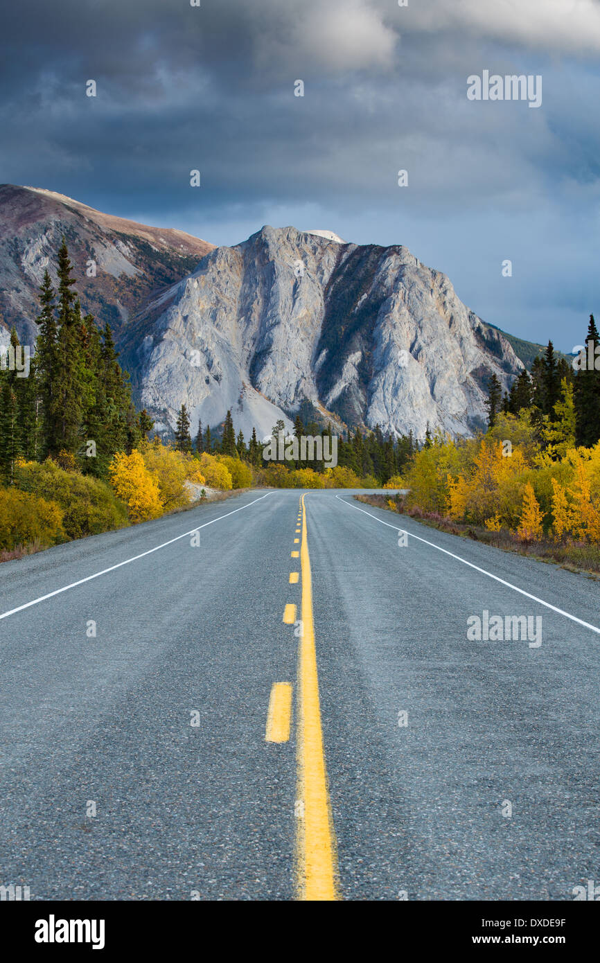 the road to Skagway, South Klondike Highway, Yukon Territories, Canada - Stock Image