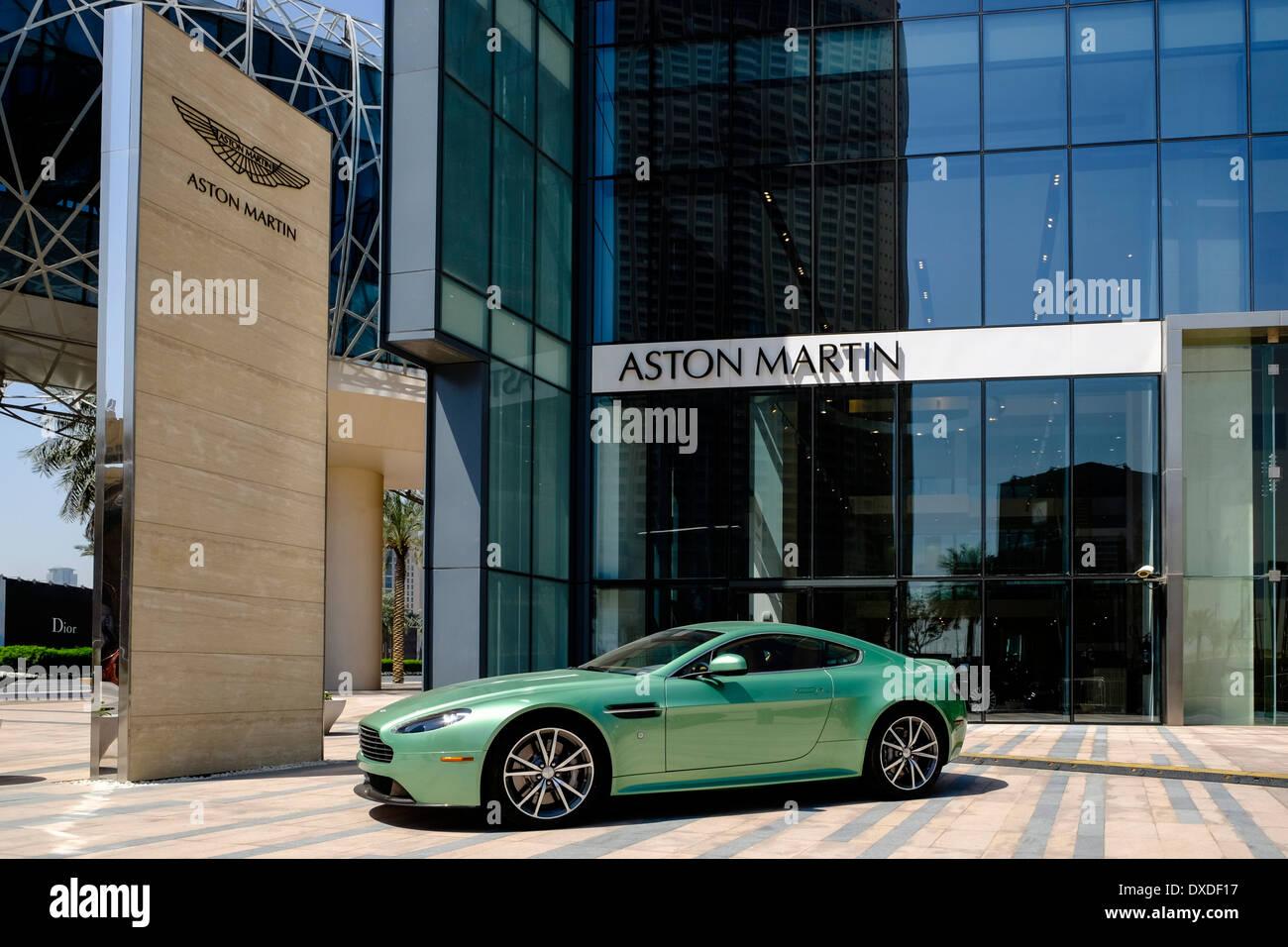 Showroom Of Aston Martin Luxury Cars In Dubai United Arab Emirates