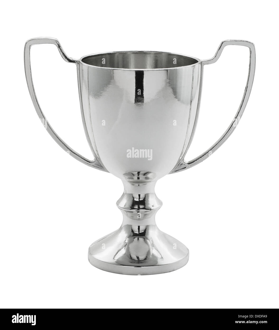 Silver Winning trophy isolated great concept for achievement, success or first place in a competition. - Stock Image