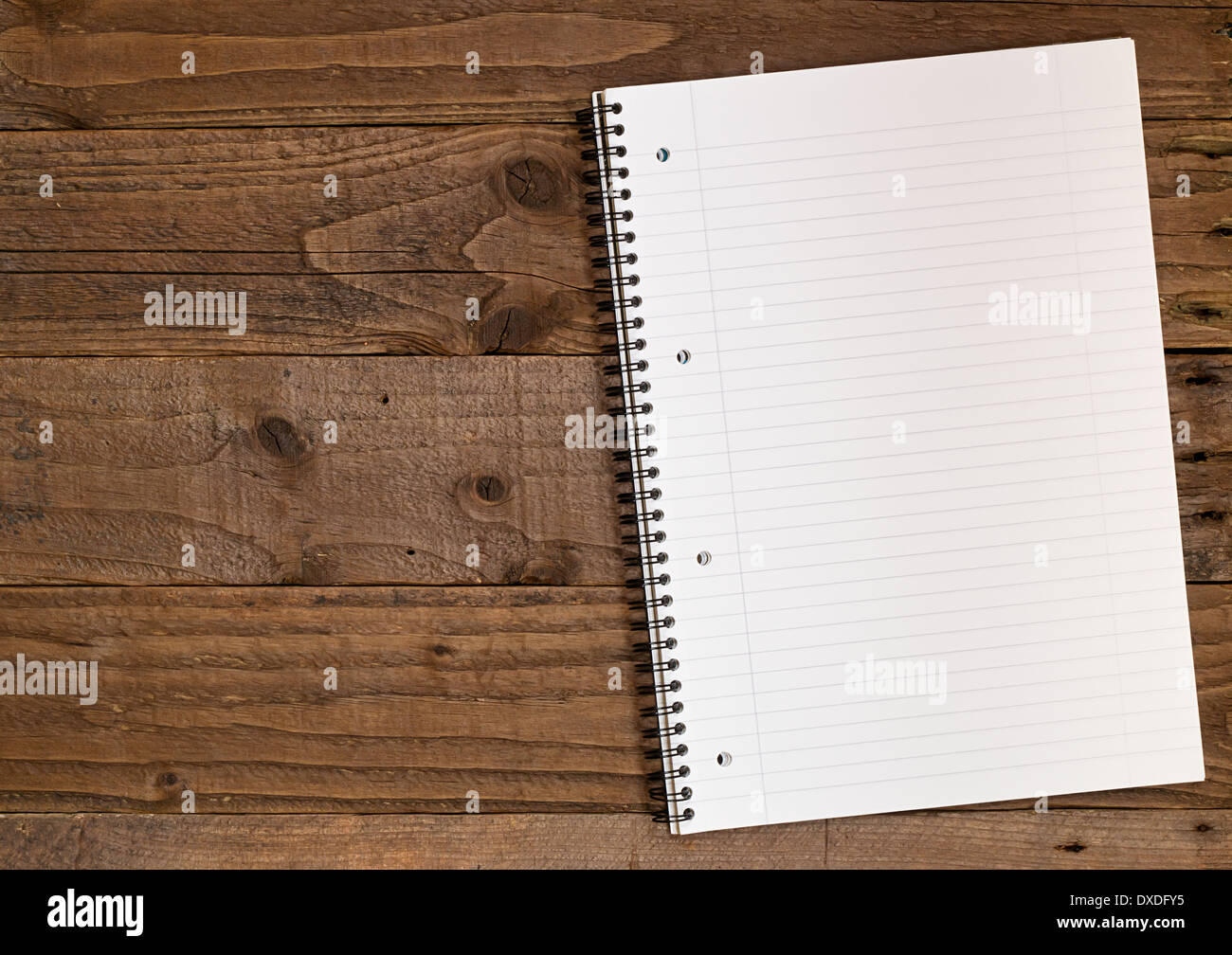 Blank lined notepad, A4 size with space on the left for insertion of your own design elements. - Stock Image