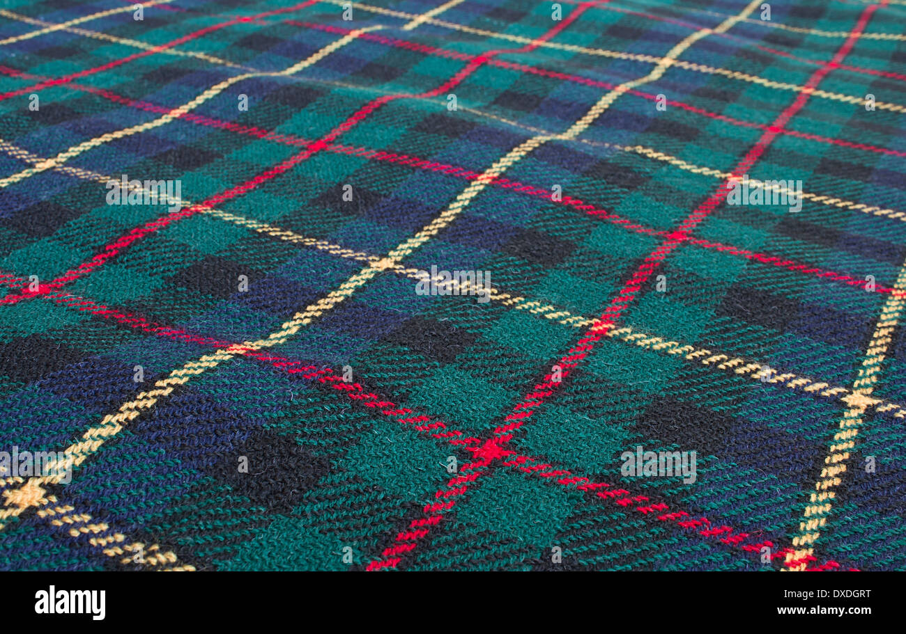 Scottish tartan background - Stock Image