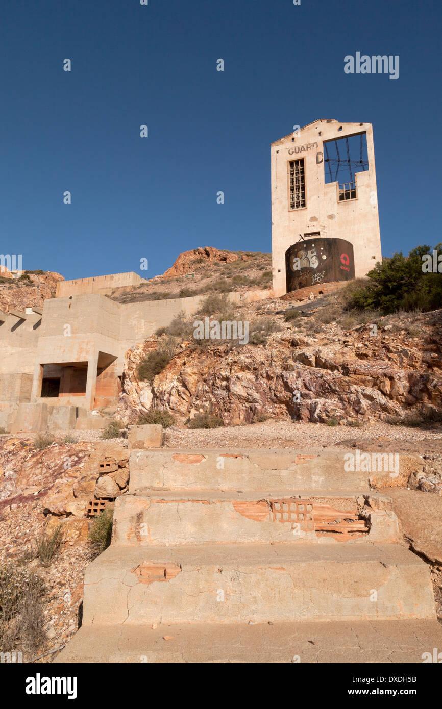 Cabo de Gata Nijar natural Park, abandoned mines at Rodalquilar, Almeria Province, Andalusia, Spain Europe - Stock Image