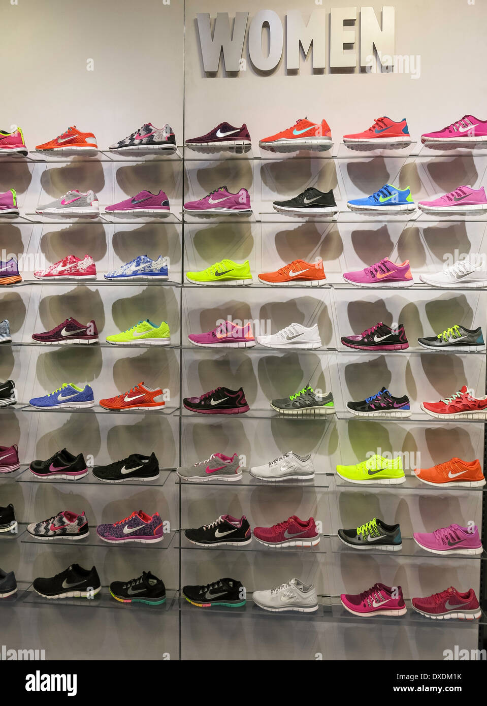 ed1b7c6685 Nike Woman's Athletic Shoe Wall, Foot Locker, International Plaza, Tampa,  FL, USA