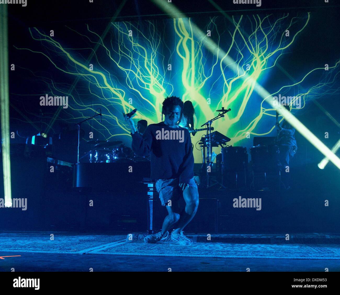 March 21, 2014 - Milwaukee, Wisconsin, U.S - Rapper CHILDISH GAMBINO (aka DONALD GLOVER) performs live at The Rave's Eagles Ballroom in Milwaukee, Wisconsin (Credit Image: © Daniel DeSlover/ZUMAPRESS.com) - Stock Image