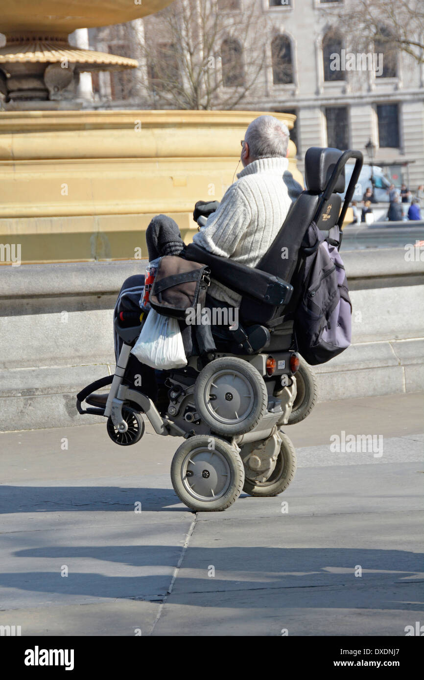 disabled person operating an ibot mobility system powered gyroscope