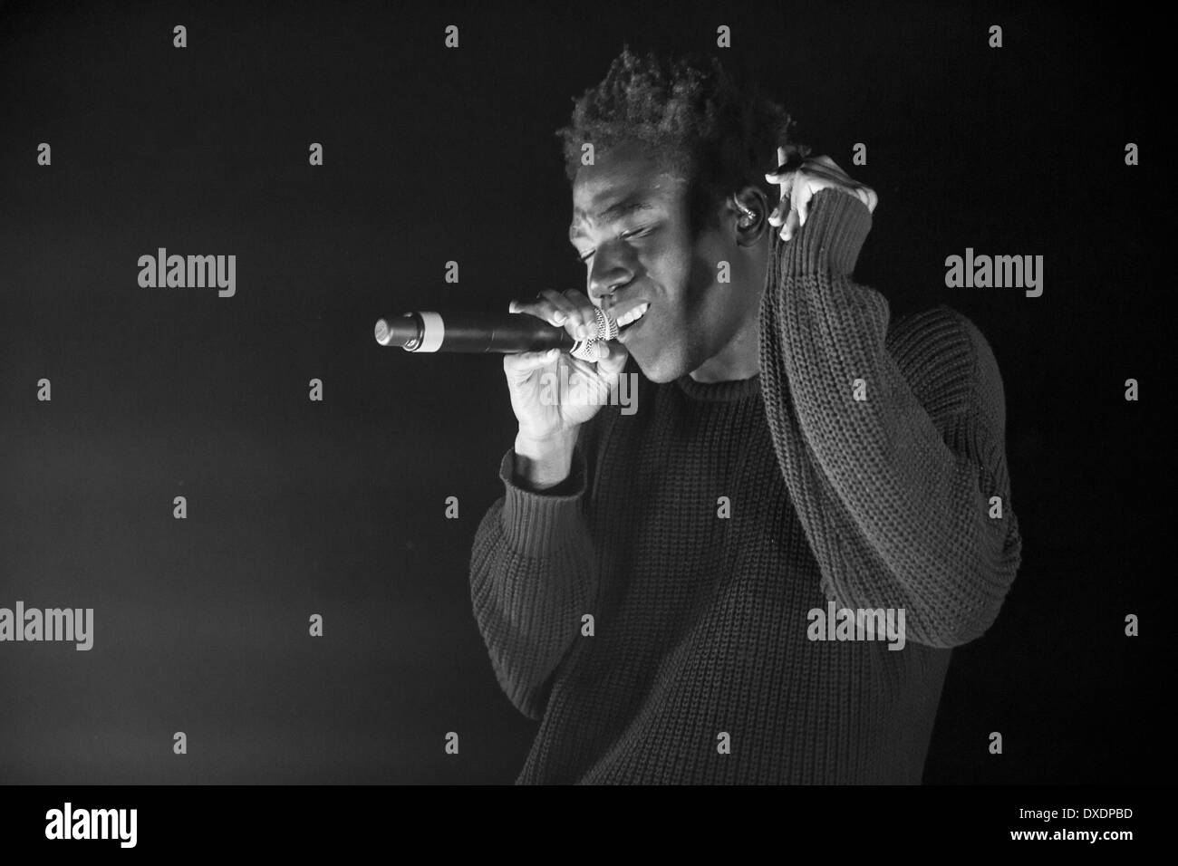 Milwaukee, Wisconsin, USA. 21st Mar, 2014. Rapper CHILDISH GAMBINO (aka DONALD GLOVER) performs live at The Rave's Eagles Ballroom in Milwaukee, Wisconsin © Daniel DeSlover/ZUMAPRESS.com/Alamy Live News - Stock Image