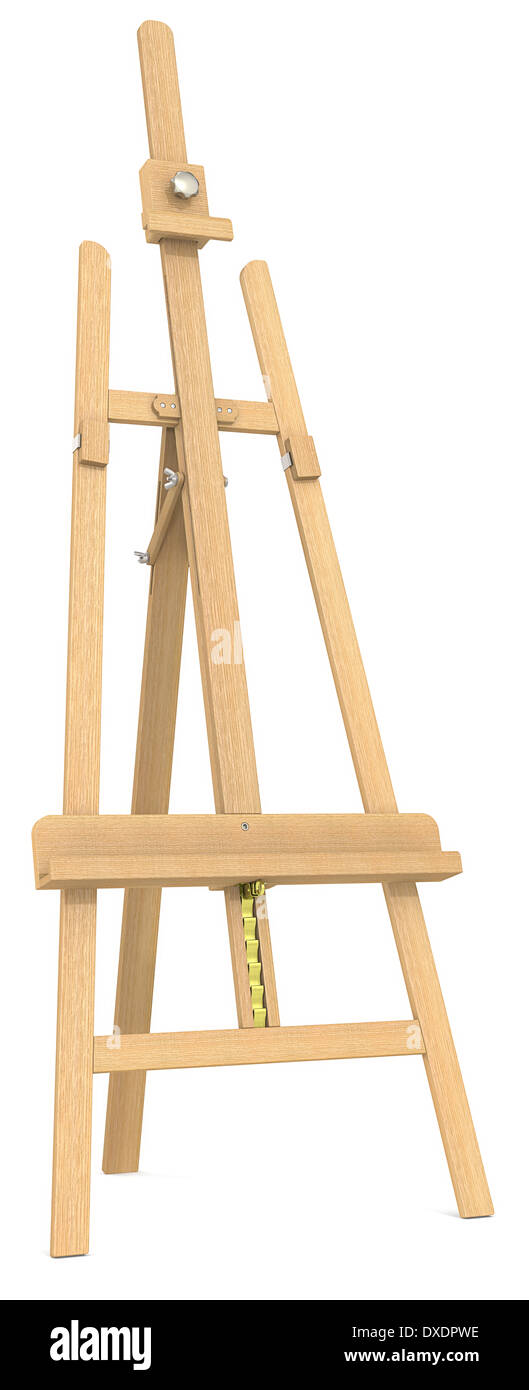 wood easel stock photos wood easel stock images alamy