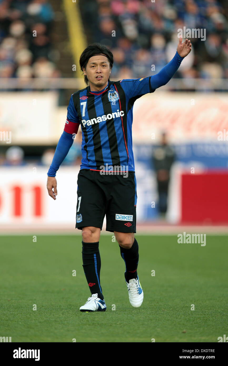 Osaka Japan 23rd Mar 2014 Yasuhito Endo Gamba Football Soccer Stock Photo Alamy