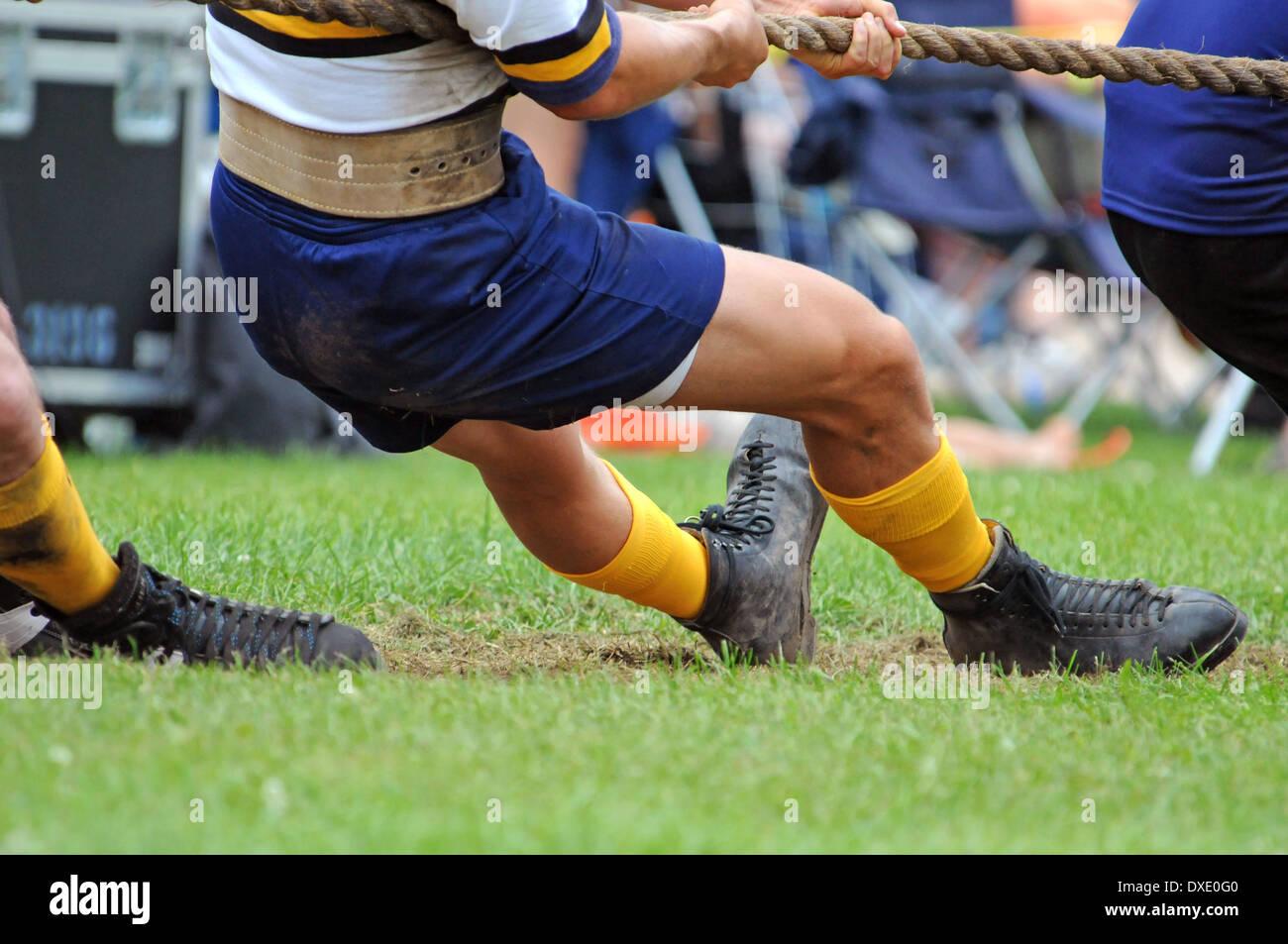 Tug-of-war, Sport, - Stock Image
