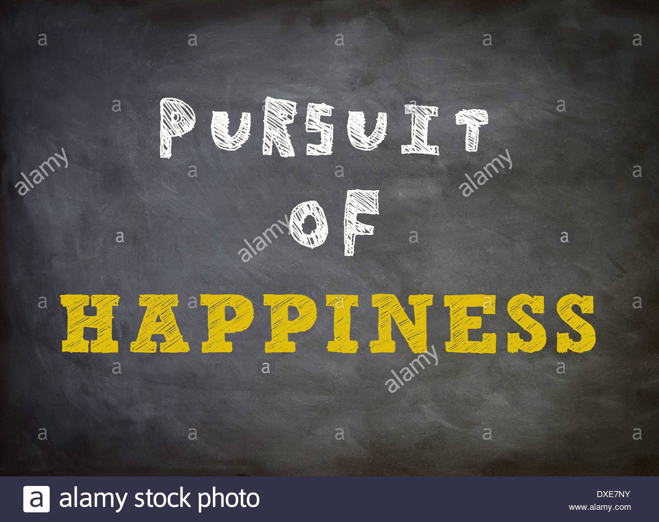Pursuit of Happiness - Motivation - Stock Image