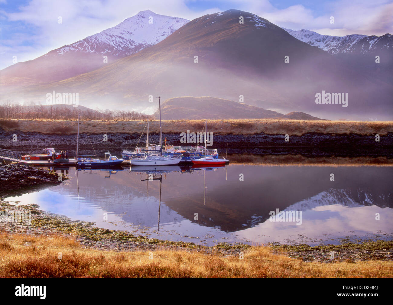 Ben Vair from south Ballachulish pier.Loch Leven,north Argyll. - Stock Image