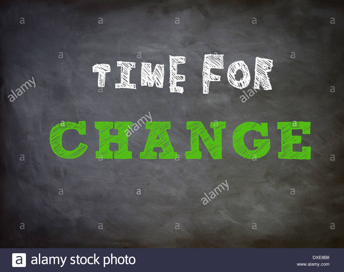 Time for change - Motivation - Stock Image