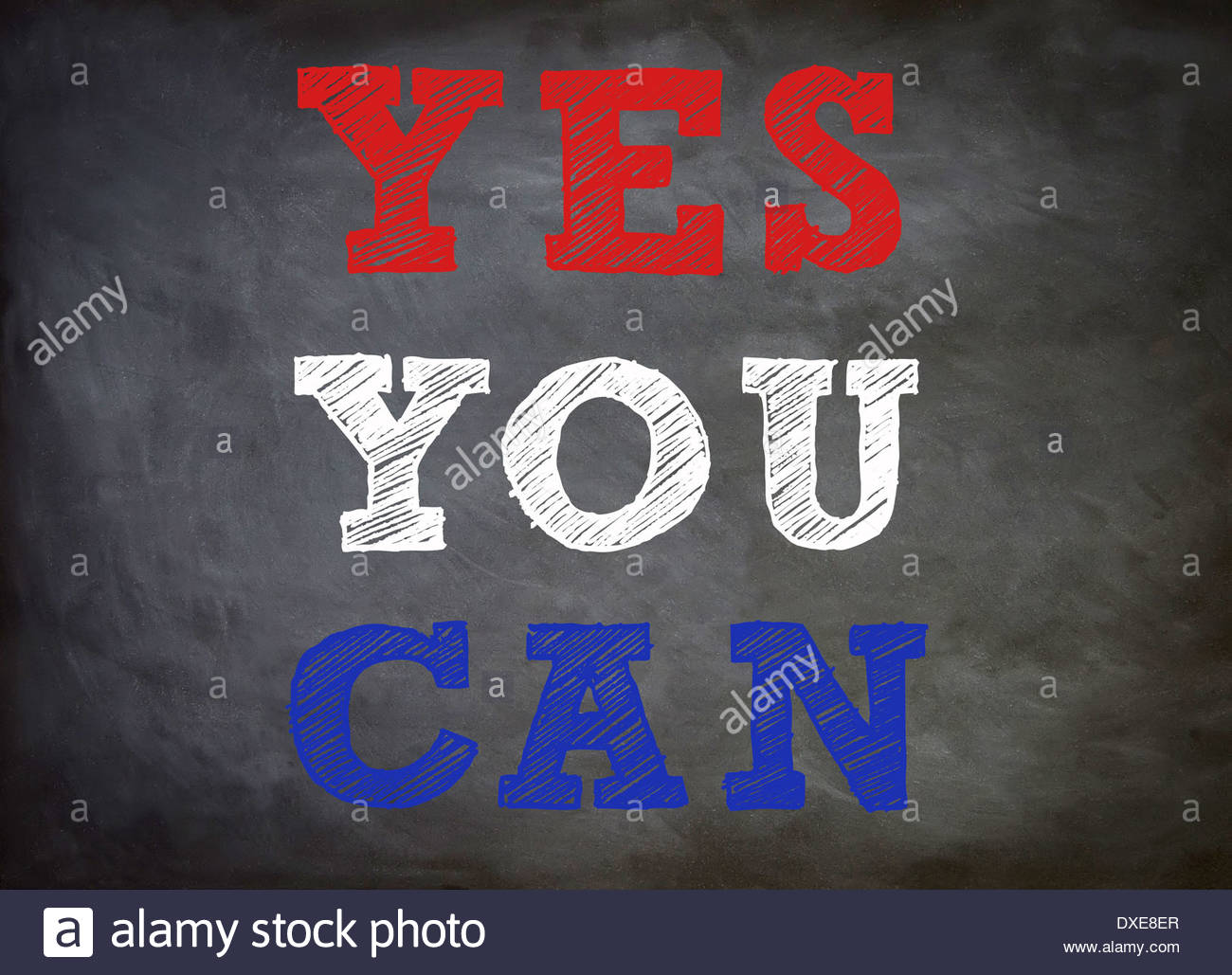 Yes you can - Motivation concept - Stock Image