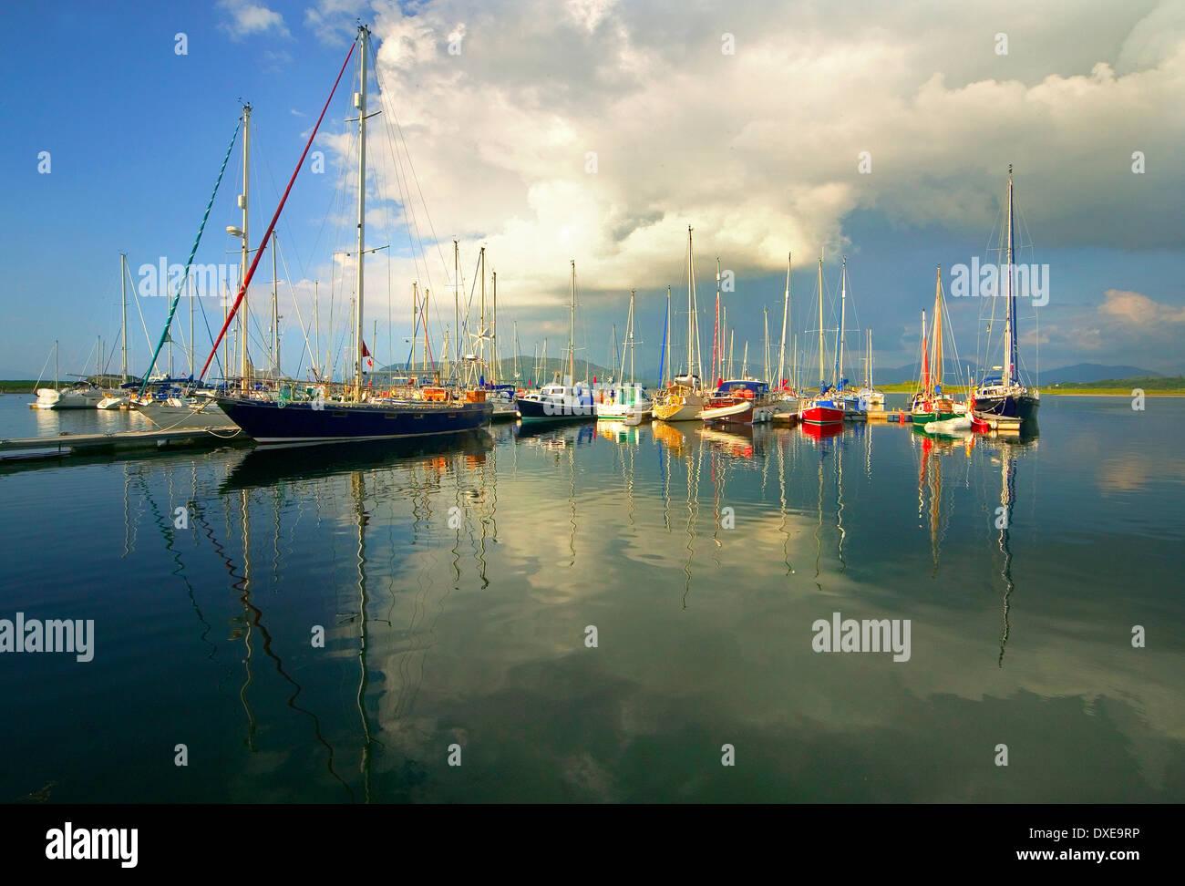 Dunstaffnage yachting marina - Stock Image