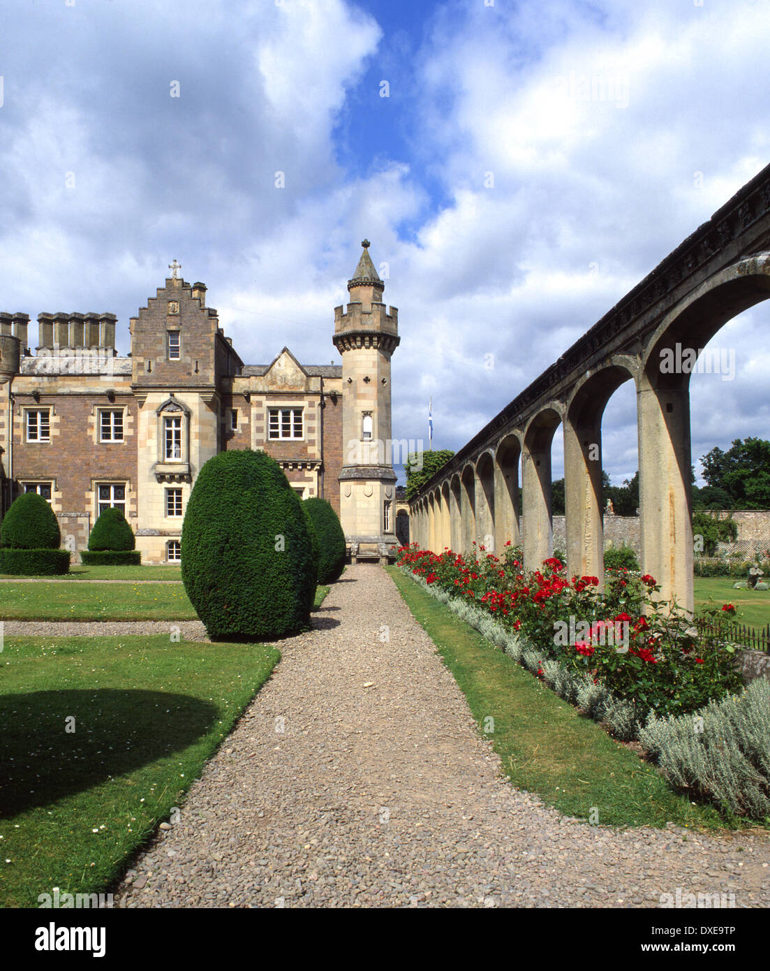 Abbotsford house, home of Sir Walter Scott, Scottish Borders. - Stock Image